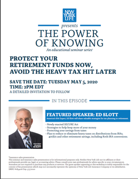Protecting Your Retirement Funds Now by ED SLOTT
